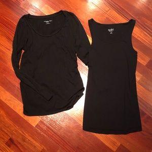 Bundle of black maternity tops